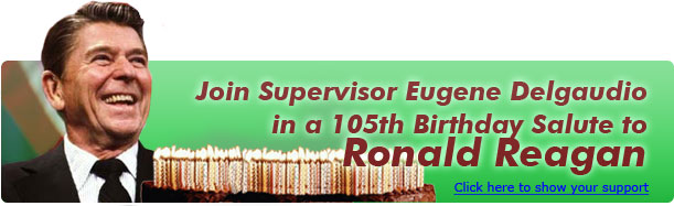 Join Sup. Delgaudio in a 102nd Birthday salute to Ronald Reagan